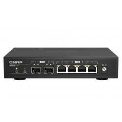 QNAP QSW-2104-2S - Commutateur - non géré - 2 x 10 Gigabit SFP+ + 4 x 2.5GBase-T - de bureau