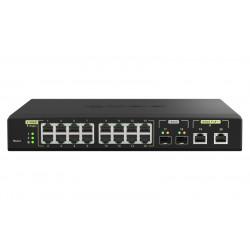 QNAP QSW-M2116P-2T2S - Commutateur - Géré - 16 x 100/1000/2.5G (PoE+) + 2 x 10 Gigabit SFP+ + 2 x 100/1000/2.5/5/10G (PoE++) -