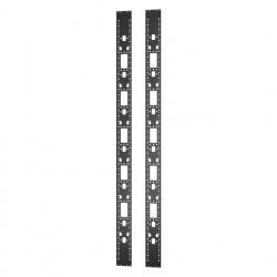 APC Easy Rack - Rack accessory channel (vertical) - noir - 48U (pack de 2)