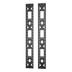 APC Easy Rack - Rack accessory channel (vertical) - noir - 24U (pack de 2)