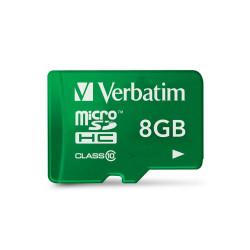 Verbatim Tablet - Carte mémoire flash (adaptateur SD inclus(e)) - 8 Go - Class 10 - microSDHC UHS-I - vert