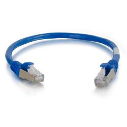 C2G Cat6a Booted Shielded (STP) Network Patch Cable - Cordon de raccordement - RJ-45 (M) pour RJ-45 (M) - 30 m - STP - CAT 6a -