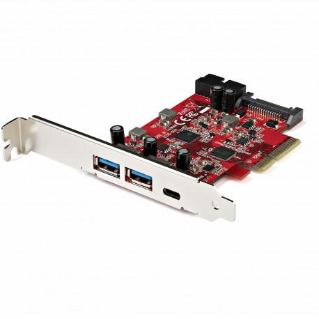 StarTech.com 5-Port USB PCIe Card, 10Gbps USB 3.1 Gen 2 PCIe Card w/ 1x USB-C & 2x USB-A, 1x 2 Port IDC (Internal 5Gbps USB Hea