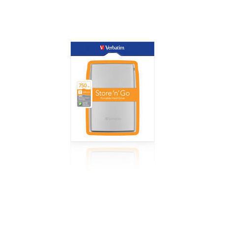 Verbatim Store 'n' Go Portable - Disque dur - 750 Go - externe (portable) - USB 2.0 - 5400 tours/min
