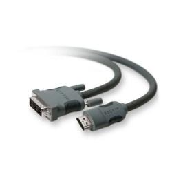 Belkin - Câble vidéo - HDMI / DVI - HDMI (M) pour DVI-D (M) - 1.8 m - double blindage