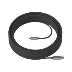 Logitech Strong - Câble USB - USB type A (M) pour USB-C (M) - USB 3.1 - 10 m - plenum, Active Optical Cable (AOC)