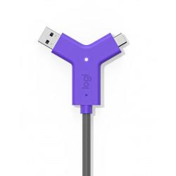 Logitech Swytch - Concentrateur (hub) - 2 x HDMI + 1 x SuperSpeed USB + 2 x USB-C - de bureau