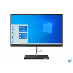 Lenovo V50a-22IMB AIO 11FN - Tout-en-un - avec support d'écran - Core i5 10400T / 2 GHz - RAM 8 Go - SSD 256 Go - NVMe - grave