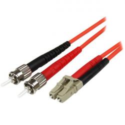 StarTech.com 1m Fiber Optic Cable - Multimode Duplex 50/125 - LSZH - LC/ST - OM2 - LC to ST Fiber Patch Cable - Cordon de racco
