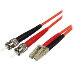 StarTech.com 2m Fiber Optic Cable - Multimode Duplex 50/125 - LSZH - LC/ST - OM2 - LC to ST Fiber Patch Cable - Cordon de racco