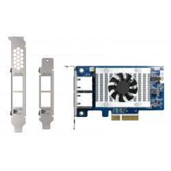 QNAP QXG-10G2T-X710 - Adaptateur réseau - PCIe 3.0 x4 profil bas - 10Gb Ethernet x 2 - pour QNAP QSW-1208-8C, QSW-M2108-2C
