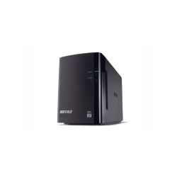 BUFFALO DriveStation Duo USB 3.0 - Baie de disques - 4 To - 2 Baies (SATA-300) - HDD 2 To x 2 - USB 3.0 (externe)