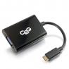 C2G HDMI Mini to VGA and Audio Adapter Converter Dongle - Convertisseur vidéo - HDMI - VGA - noir