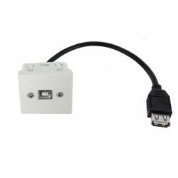Plastron 45x45 USB B F USB A F - 0,2m