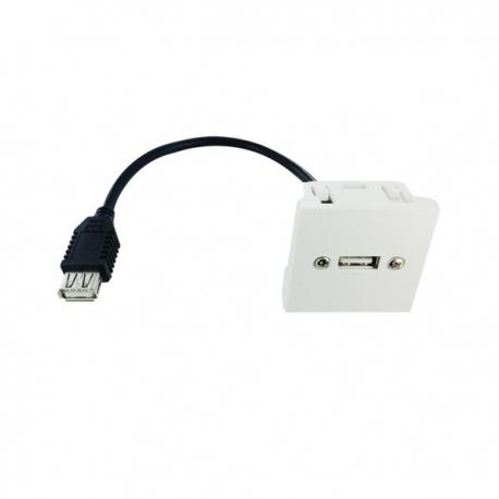 Plastron 45x45 USB A FF - 0,2m