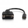 C2G HDMI Mini to Single Link DVI-D Adapter Converter Dongle - Adaptateur vidéo - liaison simple - DVI-D femelle pour HDMI mini