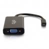C2G HDMI Micro to VGA and Stereo Audio Adapter Converter Dongle - Convertisseur vidéo - HDMI - VGA - noir