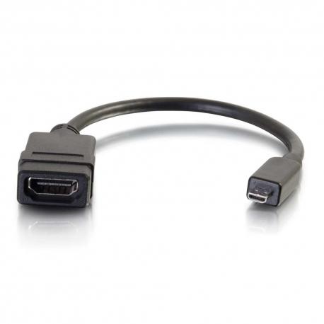 C2G HDMI Micro to HDMI Adapter Converter Dongle - Adaptateur HDMI - HDMI femelle pour HDMI micro mâle - 20.3 cm - double blinda