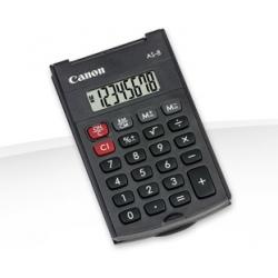 Canon AS-8 - Calculatrice de poche - 8 chiffres - pile - gris foncé