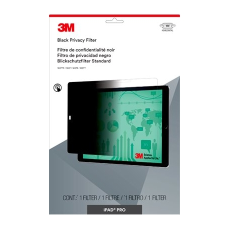 filtre de confidentialit 3m pour apple ipad pro paysage filtre de confidentialit pour cran. Black Bedroom Furniture Sets. Home Design Ideas