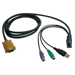 Tripp Lite 10ft USB / PS2 Cable Kit for KVM Switch B020-U08 / U16 10' - Câble clavier/vidéo/souris/USB - 18 broches SPHD (M) p