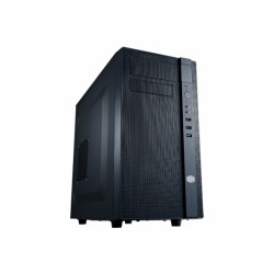 Cooler Master N200 - Tour midi - mini ITX / micro ATX - pas d'alimentation (ATX / PS/2) - noir minuit - USB/Audio