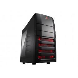 Cooler Master CM Storm Enforcer - Tour midi - ATX - pas d'alimentation (ATX / PS/2) - noir - USB/Audio