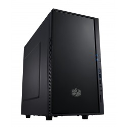 Cooler Master Silencio 352 - Tour midi - mini ITX / micro ATX - pas d'alimentation (ATX / PS/2) - noir minuit - USB/Audio