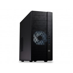 Cooler Master N400 - Tour midi - ATX - pas d'alimentation (ATX / PS/2) - noir minuit - USB/Audio