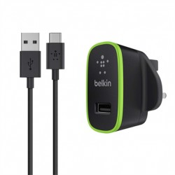 Belkin Universal Home Charger - Adaptateur secteur - 10 Watt - 2.1 A (USB) - sur le câble : USB-C - noir
