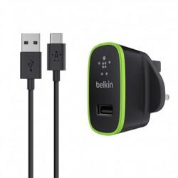 Mini chargeur secteur 2,1A avec câble USB-A vers USB-C 1,2m