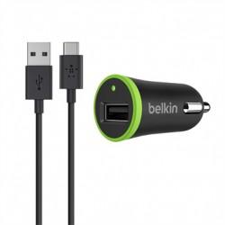 Mini chargeur allume-cigare 2,1A avec câble USB-A vers USB-C 1,2m