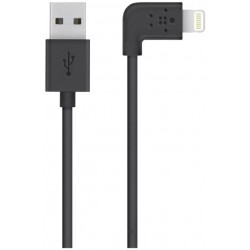 Belkin - Câble Lightning Coudé Charge/Sync pour iphone 7 plus, iphone 7, iphone SE, iphone 6s plus, iphone 6S (Certifié MFi)