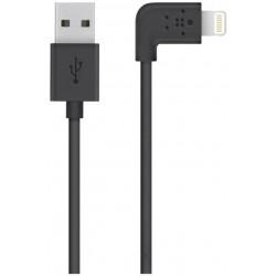 Belkin - Câble Lightning - Lightning (M) pour USB (M) - 1.22 m - noir - connecteur à 90° - pour Apple iPad/iPhone/iPod (Lightni