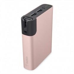 Belkin MIXIT Metallic Power RockStar 6600 - Banque d'alimentation 6600 mAh - 3.4 A - 2 connecteurs de sortie (USB) - rose gold