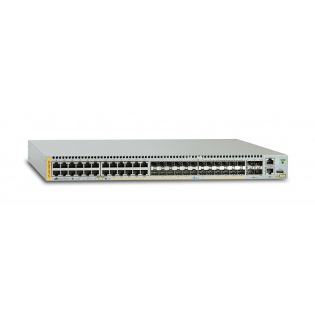 Allied Telesis AT x930-28GSTX - Commutateur - C3 - Géré + 4 x 10 Gigabit SFP+ + 24 x combo Gigabit Ethernet / SFP Gigabit - Ord