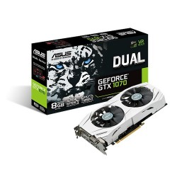 ASUS DUAL-GTX1070-8G - Carte graphique - GF GTX 1070 - 8 Go GDDR5 - PCIe 3.0 x16 - DVI, 2 x HDMI, 2 x DisplayPort