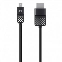 Belkin - Câble Mini DisplayPort vers HDMI, Compatible 4K, pour MacBook Air, MacBook Pro et Autres Appareils Mini DisplayPort -